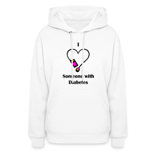 I Love Someone With Diabetes - Pump Design 2 - Pink/Orange - Women's Hoodie