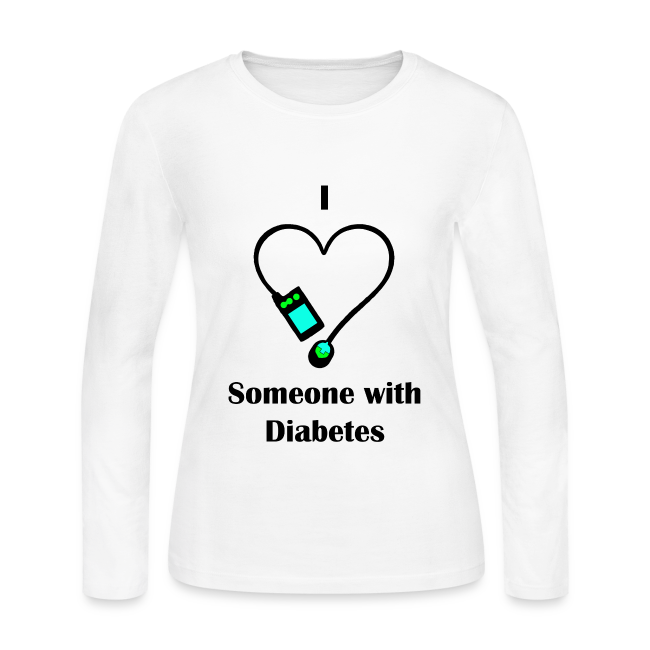 I Love Someone With Diabetes - Pump Design 2 - Blue/Green