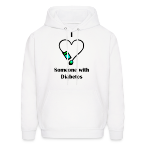 I Love Someone With Diabetes - Pump Design 2 - Blue/Green - Men's Hoodie