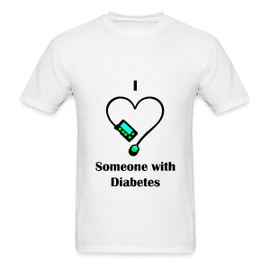 I Love Someone With Diabetes - Pump Design 1 - Blue/Green - Men's T-Shirt