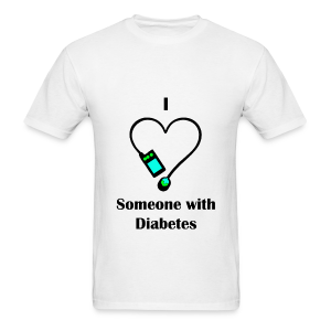 I Love Someone With Diabetes - Pump Design 2 - Blue/Green - Men's T-Shirt
