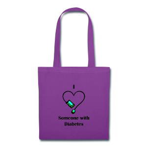 I heart Someone With Diabetes - Design 1 - Tote Bag
