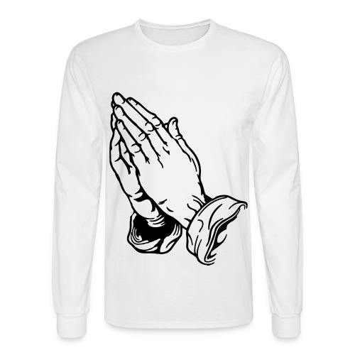 Prayer Hands - Men's Long Sleeve T-Shirt