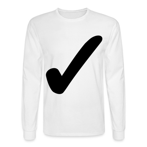 Checkmark - Men's Long Sleeve T-Shirt