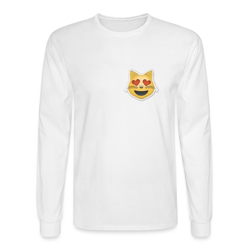 Kitty Heart - Men's Long Sleeve T-Shirt