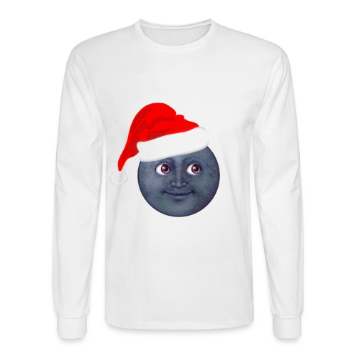 Santa Hat Moon - Men's Long Sleeve T-Shirt