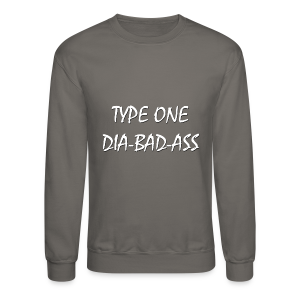 Type One Dia-Bad-Ass (White) - Crewneck Sweatshirt