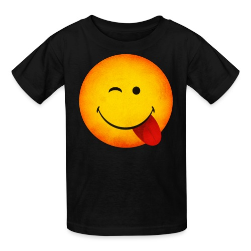 Silly Wink Emoji Kid's T-Shirt - Kids' T-Shirt