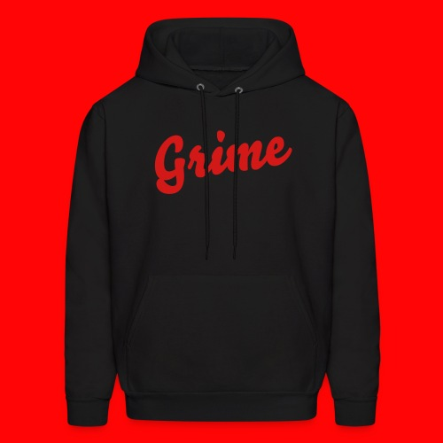 \Grime Red on Black/ - Men's Hoodie