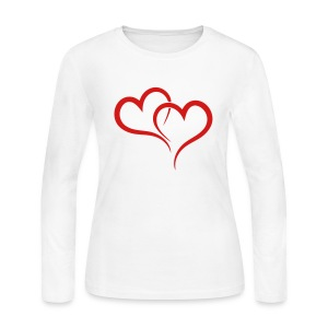 TWO HEARTS Long Sleeve Shirts - Women's Long Sleeve Jersey T-Shirt