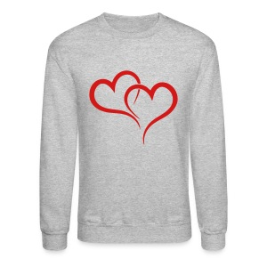 TWO HEARTS Long Sleeve Shirts - Crewneck Sweatshirt