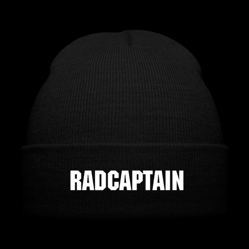 RadCaptain Knit Cap | Red - Knit Cap with Cuff Print
