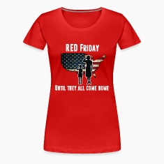 Women's RED Friday Premium T-Shirt (white letters)