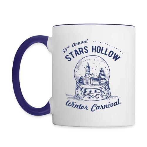 Stars Hollow Winter Carnival Mug (White / Navy Blue) - Contrast Coffee Mug