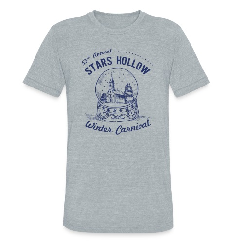 Unisex Stars Hollow Winter Carnival Shirt (Vintage Blue) - Unisex Tri-Blend T-Shirt