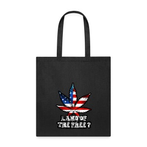 Land of the Free Black - Tote Bag