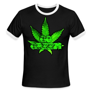 Go Green Black - Men's Ringer T-Shirt