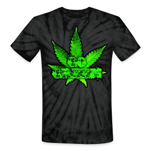 Go Green Black - Unisex Tie Dye T-Shirt