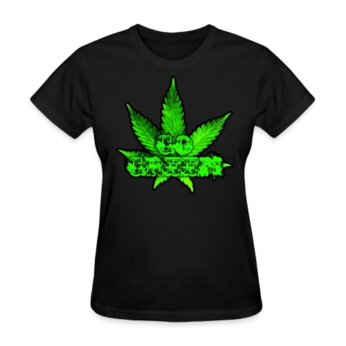 Go Green Black - Women's T-Shirt