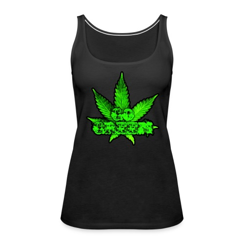 Go Green Black - Women's Premium Tank Top