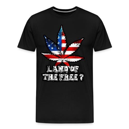 Land of the Free Black - Men's Premium T-Shirt
