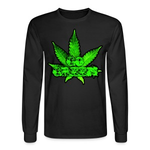 Go Green Black - Men's Long Sleeve T-Shirt