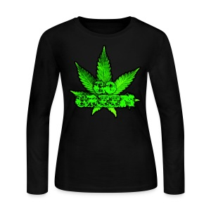Go Green Black - Women's Long Sleeve Jersey T-Shirt