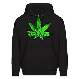 Go Green Black - Men's Hoodie