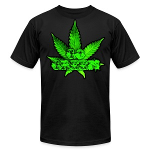 Go Green Black - Men's Fine Jersey T-Shirt