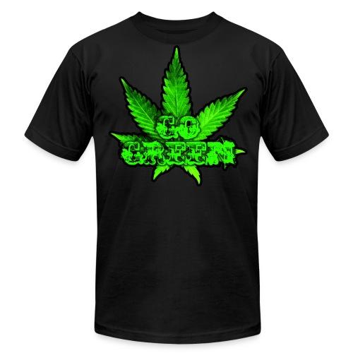 Go Green Black - Men's Fine Jersey T-Shirt