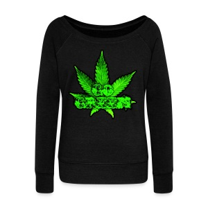 Go Green Black - Women's Wideneck Sweatshirt