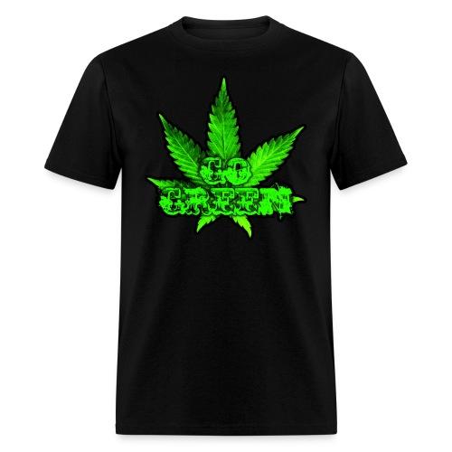 Go Green Black - Men's T-Shirt