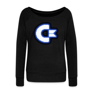 C64 Glow - Women's Wideneck Sweatshirt