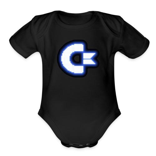 C64 Glow - Organic Short Sleeve Baby Bodysuit