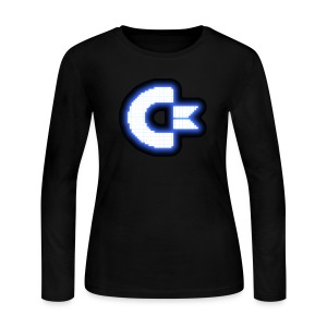 C64 Glow - Women's Long Sleeve Jersey T-Shirt