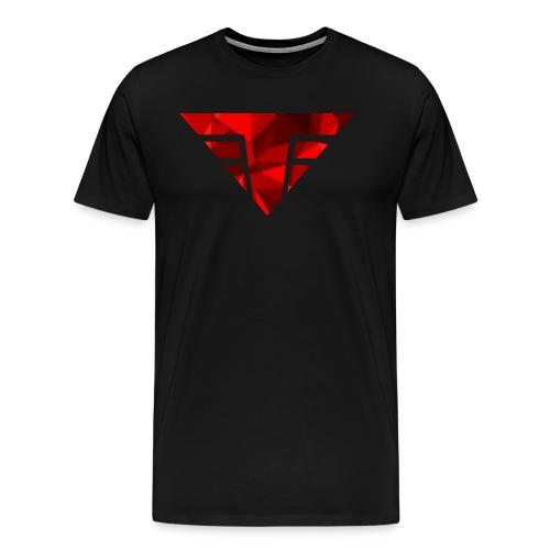 Red Ruby on Black - Men's Premium T-Shirt