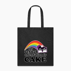 My Sexual Orientation Is Cake Funny LGBT Pride Bags & backpacks