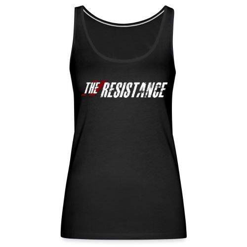 Womens THE RESISTANCE Bling Sleeveless T-Shirt THE RESISTANCE LOGO - Women's Premium Tank Top
