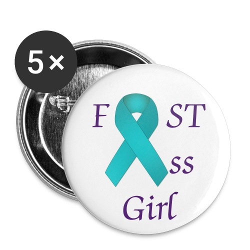 Fast Ass Girl Buttons - Buttons large 2.2'' (5-pack)