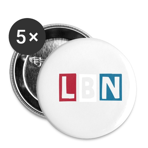 LBN Patriotic Cut Out Button 25mm - Small Buttons