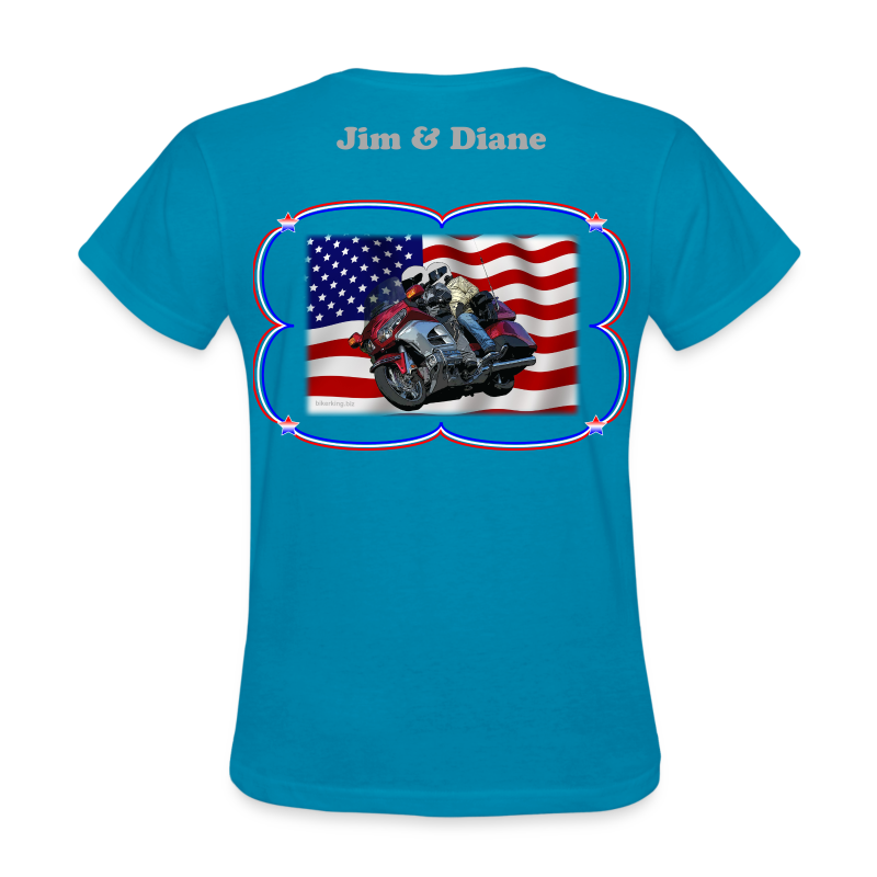Women's Standard T WgFlag (Back) - Women's T-Shirt
