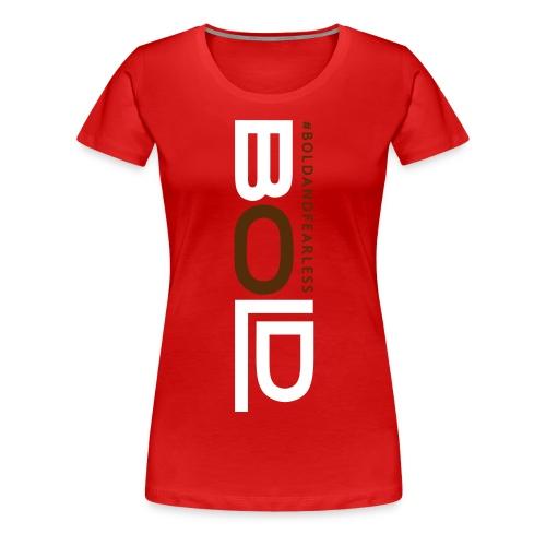 BOLD T-SHIRT red - Women's Premium T-Shirt
