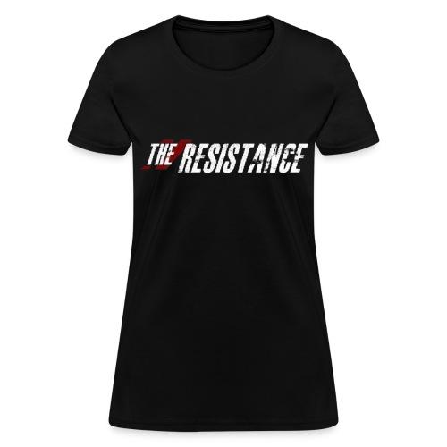 Womens THE RESISTANCE Crew NeckT-Shirt THE RESISTANCE LOGO W/ QUOTE - Women's T-Shirt