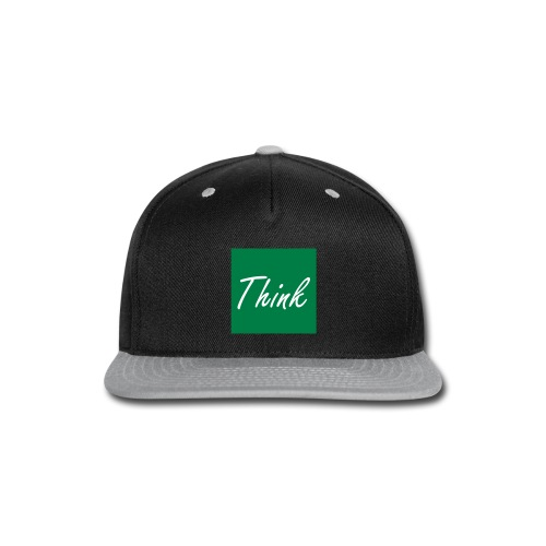 Think Green Box Logo Snapback - Snap-back Baseball Cap