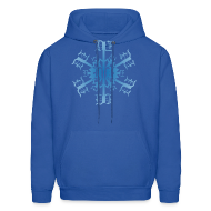 Hoodies ~ Men's Hoodie ~ Detroit Snowflake