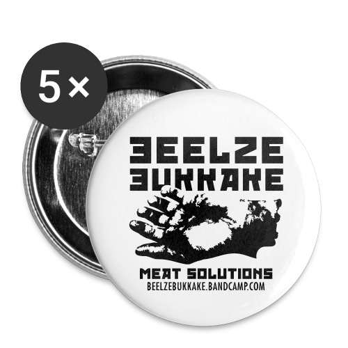 Meat Solution 1 B&W Pin (Set of 5) - Small Buttons