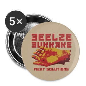 Meat Solution 1 Color Pin (Set of 5) - Small Buttons