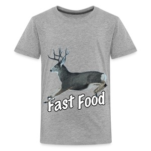Fast Food Buck Deer - Kids' Premium T-Shirt