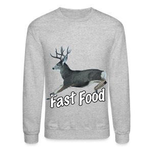 Fast Food Buck Deer - Crewneck Sweatshirt