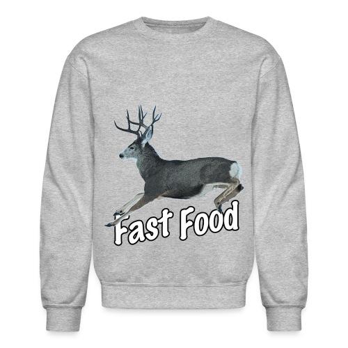 Fast Food Buck Deer - Crewneck Sweatshirt